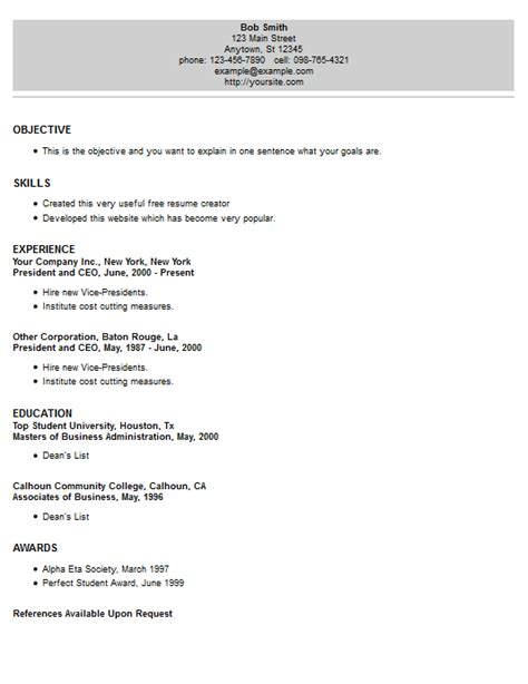 Resume 4 Free by Large Header Resume Template Style 18 Resume 4 Free