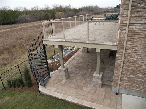 How To Level Concrete Patio File Upper Level Paver Deck Jpg Wikimedia Commons