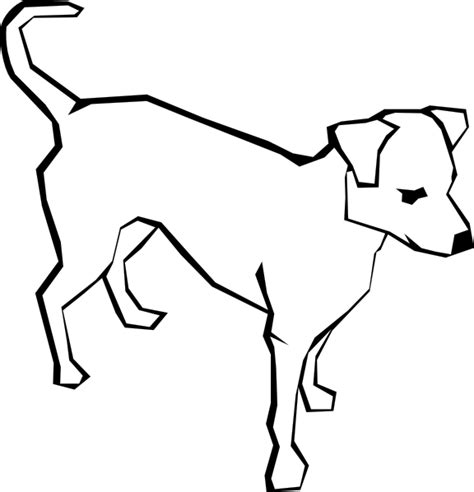 puppy outline outline animal clip at clker vector clip royalty free