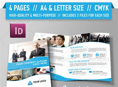 18 free 4 page brochure template images brochure