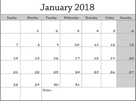 printable calendar january 2018 australia printable january 2018 calendar archives printable