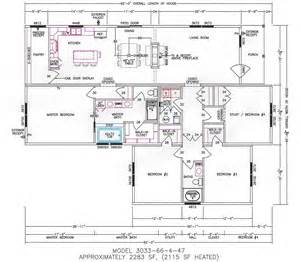 mfg homes floor plans 4 bedroom floor plan f 3033 hawks homes manufactured