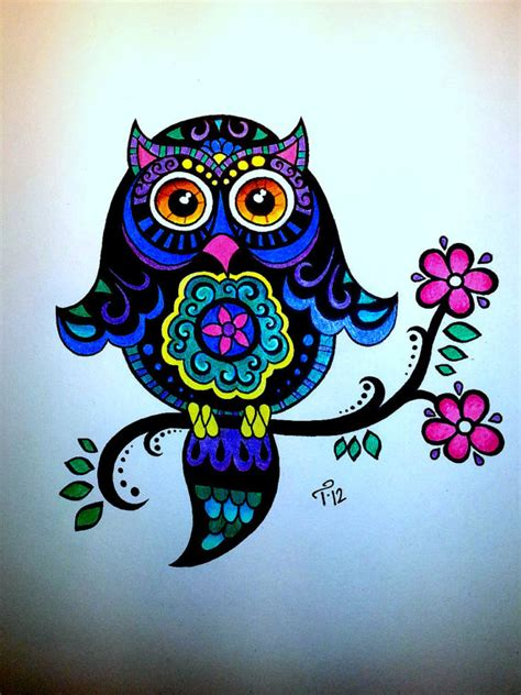 Unavailable Listing On Etsy Really Owl Drawings With Color