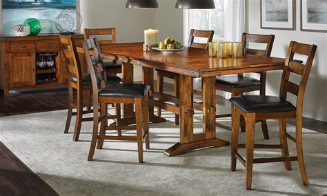 counter height dining table set haynes furniture iron solid mango counter height