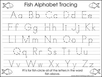 tasc colors az 2 fish themed task worksheets trace the alphabet and