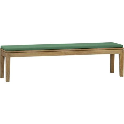 dining bench cushions regatta dining bench with sunbrella 174 white sand cushion