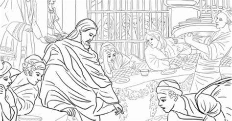 coloring pages jesus first miracle first miracle of jesus at the wedding feast at cana