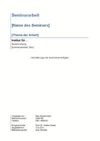 seminararbeit layout word deckblatt seminararbeit vorlage word anschreiben 2018
