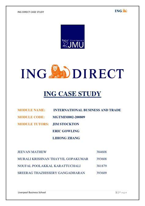 ing bank name ing direct study
