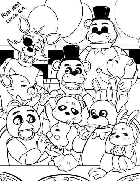 five nights at freddy s coloring book for and adults activity book books colouring pages 5 nights at freddys puppeteer freddy