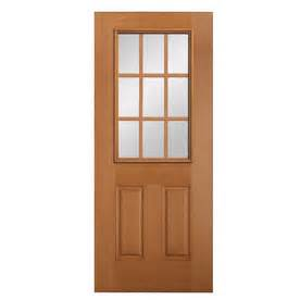 Solid Wood Exterior Doors Lowes Shop Reliabilt 2 Panel Solid Wood 9 Lite Hem Fir Unfinished Slab Entry Door Common 36 In