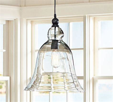 Rustic Glass Pendant Lights Rustic Glass Pendant Large From Pottery Barn