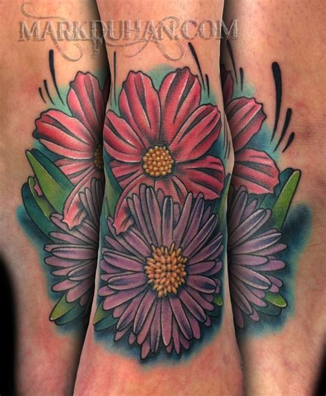september tattoo my asters aster s are the birth flower for the month of