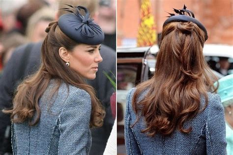half up half down hairstyles kate middleton looped half updo the many half updos of kate middleton