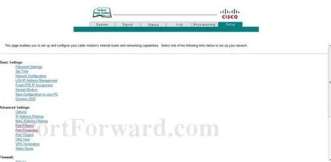 Router Wifi Cisco Dpc2320 how to open a port on the cisco dpc2320