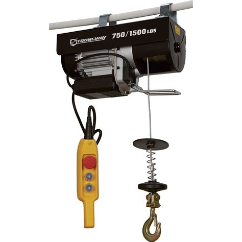 strongway electric cable hoist  lb lb capacity northern tool equipment