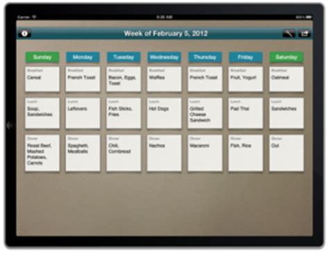 using the meal plan app for a variety of menu planning