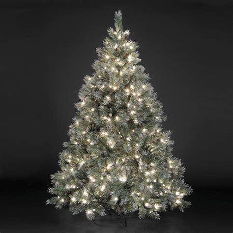 pre lit frosted tree 5ft 7 5ft quot pre lit quot frosted emerald fir tree