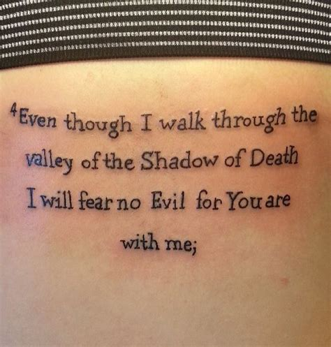 valley of death tattoo designs even though i walk through the valley of the shadow of