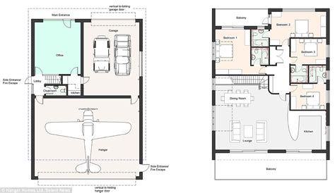 hangar home plans build homes with an aircraft hanger to park your plane