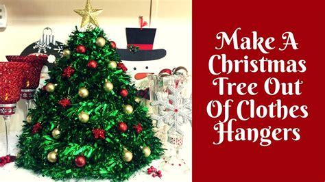 christmasbtrees out of hangers crafts how to make a tree out of clothes hangers