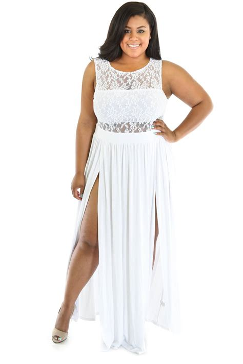 white maxi dress plus size plus size dresses white plus size reign maxi dress