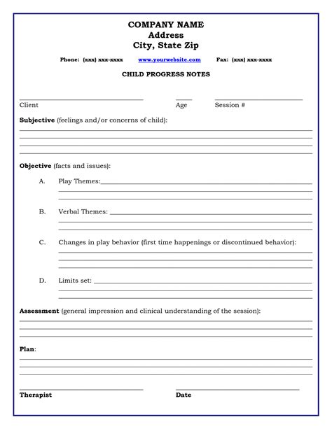 therapy templates therapy progress note template professional resources