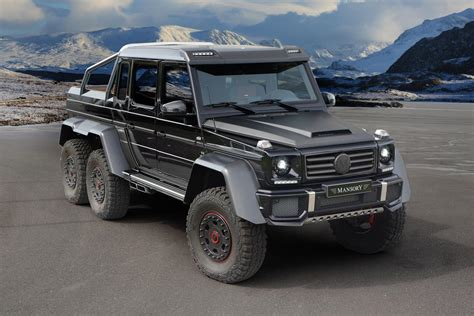 mercedes jeep 6 wheels mansory mercedes g63 amg 6x6 no more wheels much more power