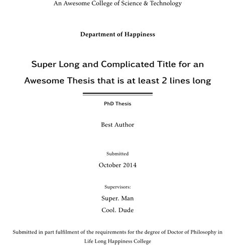 title in thesis koma script how to insert a personalised centred