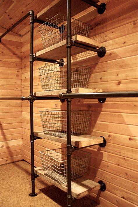 diy closet ideas built  pipe fittings
