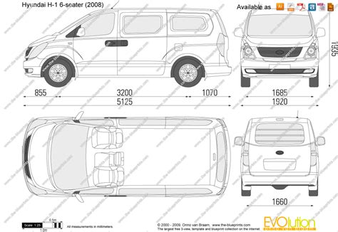 H Drawing Size by The Blueprints Vector Drawing Hyundai H 1 6 Seater