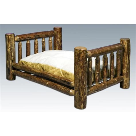 rustic dog bed montana woodworks 174 glacier country rustic pet bed 178339