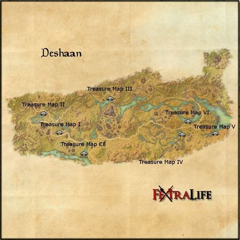 deshaan treasure map deshaan elder scrolls wiki