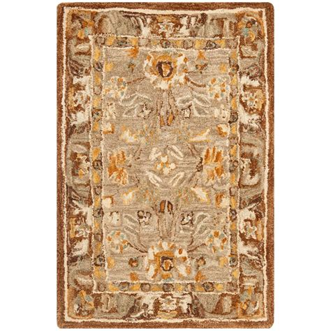 Brown And Gray Area Rug Safavieh Anatolia Gray Brown 2 Ft X 3 Ft Area Rug An558a 2 The Home Depot