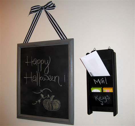 kelley maria diy chalkboard mail holder