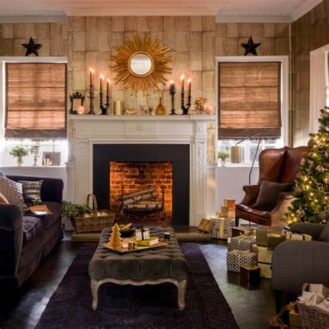 Gold Living Room Ideas Black And Gold Festive Living Room Housetohome Co Uk