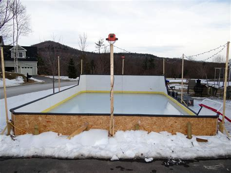 backyard hockey rink liners backyard ice rink liner outdoor furniture design and ideas