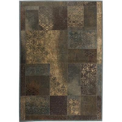 rizzy home bellevue brown paisley 5 ft 3 in x 7 ft 7 in
