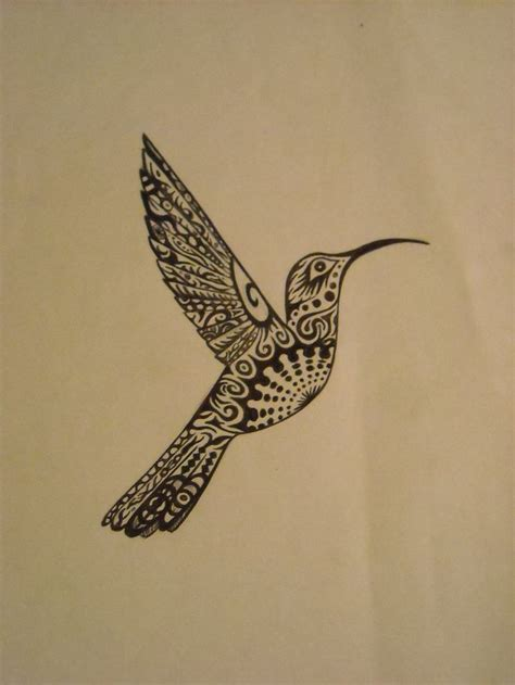 hummingbird tribal tattoo tribal hummingbird design inspiration