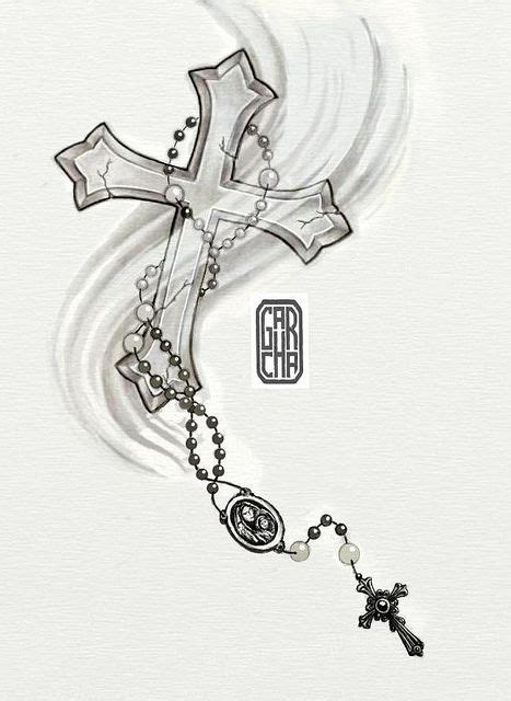 cross tattoo with rosary drawings of crosses with rosary post navigation rosary