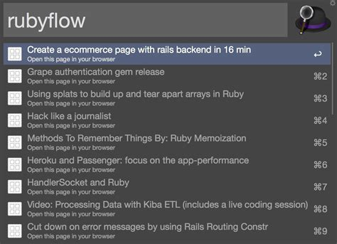 workflow ruby and practical alfred workflows in ruby sitepoint