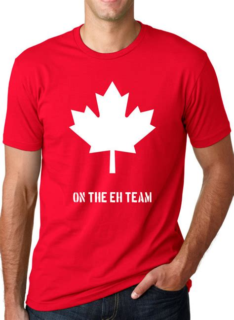 Tshirt Canada Bdc canada eh team canada shirt t shirt cotton sleeve t shirt top tees more size and