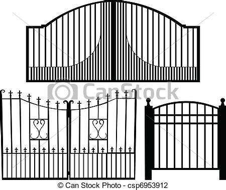 gate collection silhouette vector