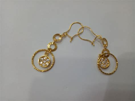 Jual Anting Emas by Jual Anting Emas Asli Kadar 875 Model Gantung Bulat Di