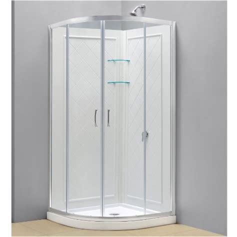 34 Inch Corner Shower Kit by Dreamline Dl 6153 01cl Prime 34 3 8 Inch By 34 3 8 Inch