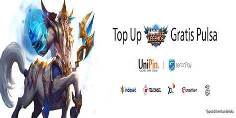 unipin co id mobile legend unipin event top up mobile legends berhadiah gratis pulsa