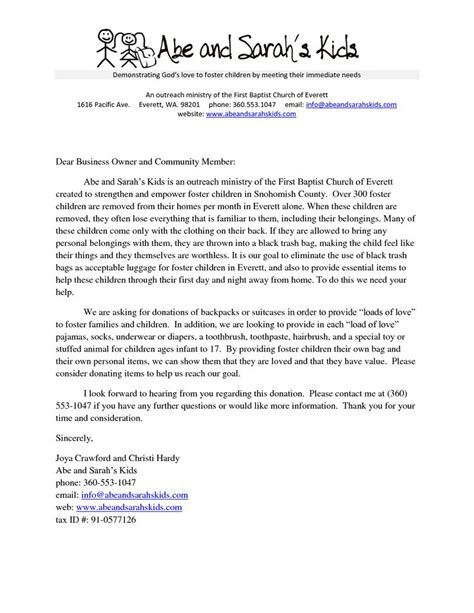 sample church donation letter donation request letter word  fundraising pinterest