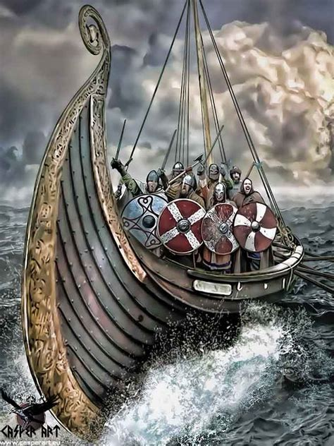original photo of a viking ship by espen winpics winther