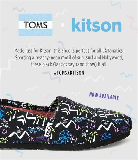 Takes Toms by Toms X Kitson Takes A Bow California Apparel News