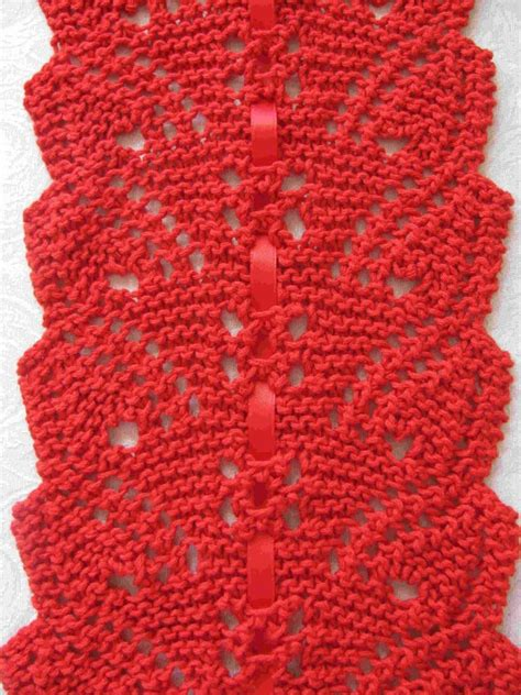 how to take out a row of knitting flowing leaves lace scarf knitting pattern pdf easy to knit